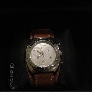 Robert Cavalli timewear leather watch